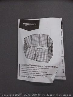 foldable metal pet exercise and playpen with door amazonbasics(rack c row2)