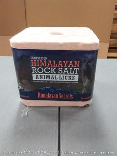 Himalayan Salt Animal Lick 11 lb Block Shrink Wrapped w/ Label