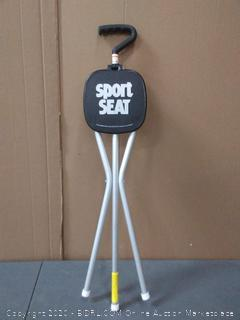 sport seat walking stick and seat combination