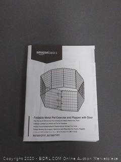 amazonbasics foldable metal pet exercise and playpen with door(rack c row2)