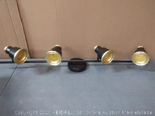 vaxcel Fairhaven, torrell directional light black with natural brass finish