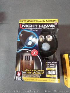 Nighthawk Wireless motion-activated LED spotlight plus my touch smart plug-in Wi-Fi Smart Switch