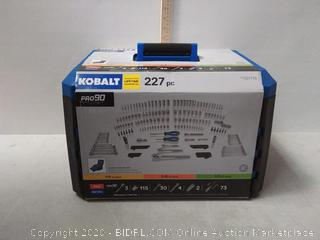 Kobalt 227-Piece Standard (SAE) and Metric Polished Chrome (online $199)