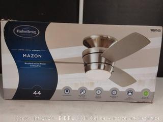 Harbor Breeze Mazon 44-in Brushed Nickel Indoor Flush Mount( missing remote) online $119