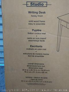 winsome Studio writing desk honey finish (online $112)