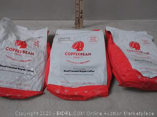 Coffe been Direct DecafeCaremel Royal Flavored, Whole bean Coffee 16oz. bags (3 pack)