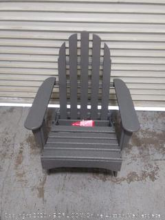 classic folding Adirondack Chair in slate gray (online $245)