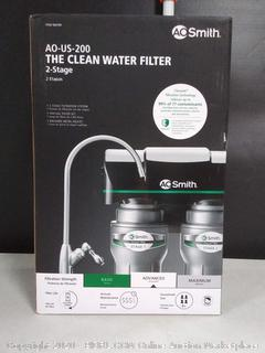 AO Smith Dual Stage Carbon Under Sink Water Filtration System (online $139)