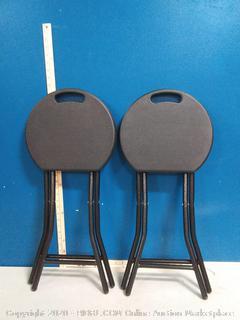 folding stool 18 inch set of 2 heavy duty chair