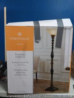 portfolio barada champagne glass shade lamp (online $109)