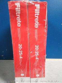 Filtrete 20x25x4, AC Furnace Air Filter, MPR 1000 DP, Micro Allergen Defense Deep Pleat, 2-Pack (online $50)