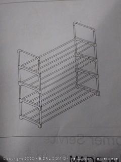 4 tier shoe rack(bent)