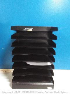 SAF3129BL Safco Slanted Shelves Steel Desk Tray Sorter