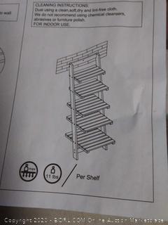 lavish home wooden Shelf(cracked)