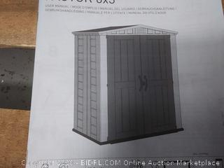 Keter Factor 6 ft. x 3 ft. Outdoor Storage Shed (online $416)