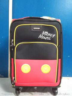 American tourister 21 in spinner Mickey Mouse pants luggage