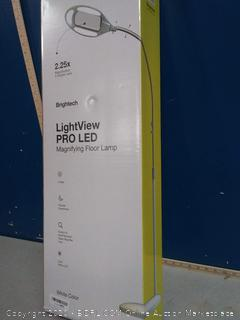 brightech Lightview Pro LED magnifying floor lamp(Factory Sealed)COME PREVIEW!!!!! (online $82)