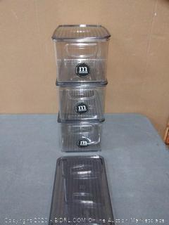 mdesign bath storage bin 10 x 6 x 5 with lid X3