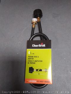 Char Broil 4 ft propane hose and adapter