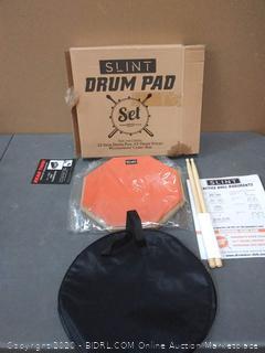 slint drum pad set 12 inch drum pad A5 drumsticks with waterproof carrying bag