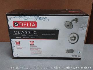 Delta Bathtub Shower Faucet Combo 1-Handle 1-Spray Brushed(slightly used)