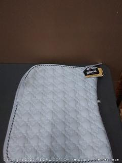 Roma ecole flower Diamond dressage saddle pad white black and silver