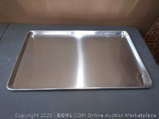 new star Foodservice commercial grade 18 inch gauge aluminum sheet pan bun pan 18 in length x 26 inch width(slight dent on end)