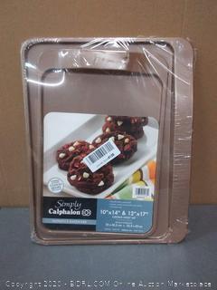 Calphalon 2 Piece Nonstick Bakeware Cookie Sheet Set, Toffee