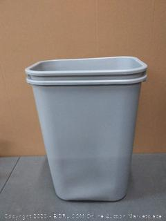 the other half Rubbermaid gray, medium size trash can X2