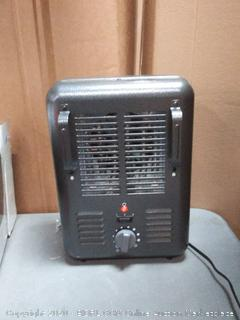 OmniHeat 1500-Watt Utility Fan Utility Electric Space Heater (powers on)