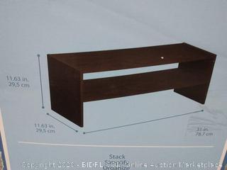 ClosetMaid 31 inch horizontal stackable organizer espresso