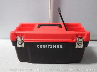 Craftsman 20 in. x 9.7 in. Plastic Tool Box (missing storage compartment door on top, left)