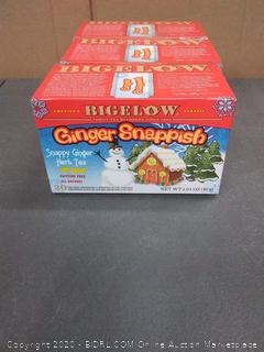 Bigelow family tea blenders Ginger snappish Snappy Ginger herb tea with lemon (3 boxes)