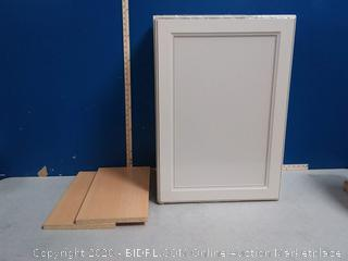 Caspian 21 inch x 30 in wall cabinet(bottom and top cracked)