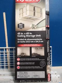 Hyloft Storage Solutions ceiling storage unit (online $63)