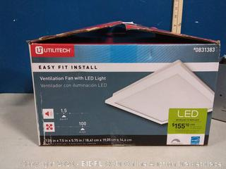 Utilitech Ventilation Fan 1.5-Sone 100-CFM White Bathroom Fan(previously owned)