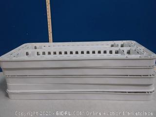 Keter 18-in D x 36-in W x 74-in H 4-Tier Plastic Freestanding Shelving Unit