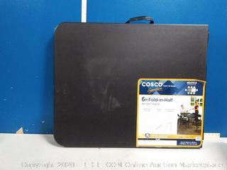 Cosco 29.6-in x 72-in Rectangle Resin Black Folding Table