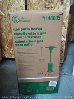 Garden Treasures gas patio heater 87.4 inches x 32.01in x 32.01 (online $149)