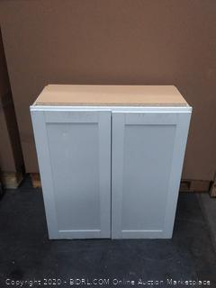 two door wooden cabinet (small crack on left top corner)