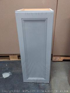 Diamond now 12 inch wall cabinet Gray (small crack on top)
