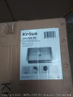 Kraus KHU100-30 Undermount 30-inch 1-Bowl Stainless Steel