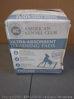 "American Kennel Club Ultra absorbent training pads 150 bags 22""x22"""