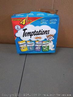 Temptations variety 4-pack cat treats chicken creamy Dairy Seafood in tuna flavor