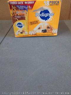 pedigree Choice Cuts dog food in gravy 18 pouch filet mignon grilled chicken beef noodle and vegetable flavors