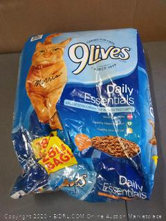Nine Lives daily Essentials cat food 28 pound bag small hole in bag