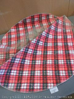 washable pee pads for dogs round plaid puppy potty pad (dusty, but washable)