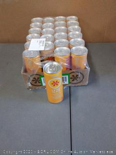 Izze Sparkling Juice, Peach, 8.4 Fl Oz (24 pack)