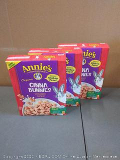 Annie's Organic, Gluten Free, Cinnabunnies Cinnamon Cereal, 10 oz Box(3 PACK)