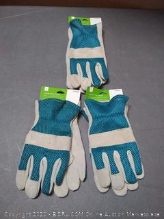 large leather Palm gloves 3 pack